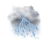 prevažne zamračené s búrkami